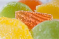 dessert di gelatina della marmellata d'arance dello zucchero candito della gelatina Immagini Stock