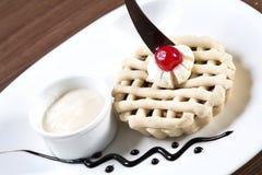 Dessert di illecito della torta di mele fotografie stock