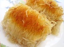 Dessert di Kadayif Immagine Stock