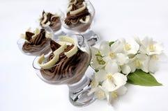 Dessert di Mascarpone fotografie stock libere da diritti
