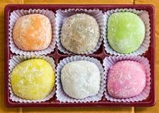 Dessert di Mochi. fotografia stock libera da diritti