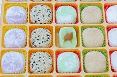 Dessert di Mochi isolato Fotografia Stock Libera da Diritti