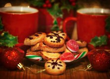 Dessert di Natale Fotografia Stock Libera da Diritti