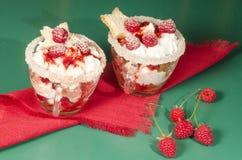 Dessert di Natale in un vetro con la decorazione Fotografia Stock