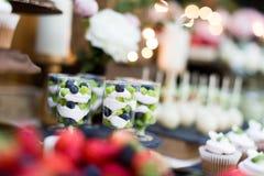 Dessert di nozze Immagini Stock Libere da Diritti