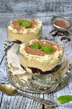 Dessert di panna acida montato Immagine Stock Libera da Diritti