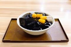 Dessert di Taiwan fatto dalla gelatina dell'erba Fotografia Stock Libera da Diritti