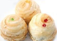 Dessert di tre Tradditional, alimento tailandese Fotografia Stock Libera da Diritti