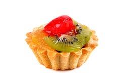 Dessert dolce con un kiwi, una frutta arancio e una fragola Immagine Stock Libera da Diritti