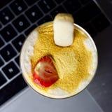 Dessert dolce della tapioca Fotografia Stock