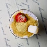 Dessert dolce della tapioca Fotografie Stock