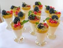 Dessert dolci della bacca Immagine Stock
