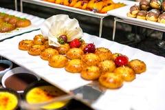 Dessert donut. Strawberry chocolate food fruit dessert donut Royalty Free Stock Photography