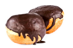 Dessert, doughnut in chocolate glaze Royalty Free Stock Photography