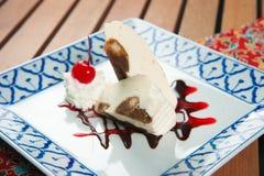 Dessert doux de gâteau de tiramisu délicieux Images libres de droits