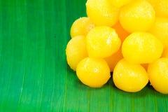 Dessert doux thaïlandais d'or Photo stock