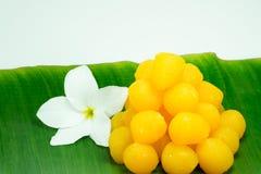 Dessert doux thaïlandais d'or Images stock