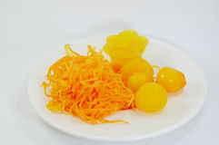 Dessert doux thaïlandais d'or de jaune d'oeuf Images libres de droits