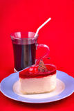 Dessert with drink Royalty Free Stock Images