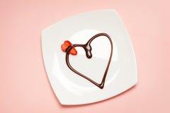 Dessert du jour de Valentine Photographie stock libre de droits