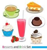 Dessert e bevanda Fotografie Stock