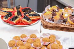 Dessert e dolci Fotografia Stock