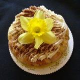 Dessert e fiore Fotografie Stock