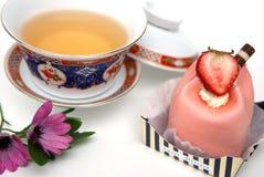 Dessert e tè Immagini Stock