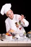 Dessert elegante del cioccolato Fotografie Stock