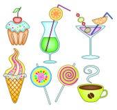 Dessert en drank Stock Afbeelding
