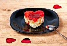 Dessert en forme de coeur Photo libre de droits