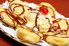 Dessert en koekjes. Stock Afbeelding