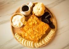 Dessert en snoepje stock afbeelding