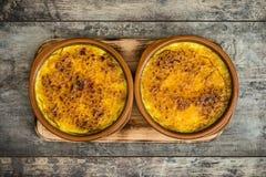 Dessert espagnol Catalana de Crema Images stock