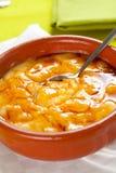 Dessert espagnol typique délicieux de catalana de Crema Image libre de droits