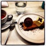 Dessert et café Image libre de droits