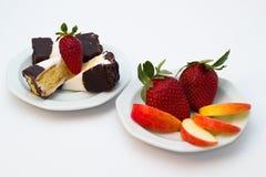 Dessert et fruit Photographie stock libre de droits