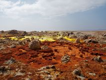 Dessert Etopia di Danakil di vulcano di Dallol immagine stock libera da diritti