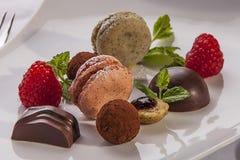 Dessert fait avec affection image stock