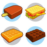 Dessert and fast food icon royalty free stock images