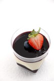 Dessert food blueberry  panacota and wild berry trifle. Stock Image