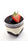 Dessert food blueberry  panacota and wild berry trifle. Stock Photography