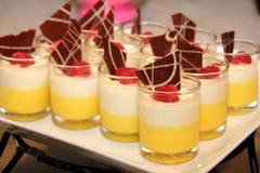 Dessert food named panacota Stock Photos