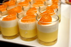 Dessert food named panacota Stock Photo