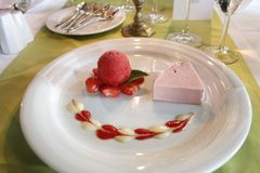 Dessert, Food, Panna Cotta, Frozen Dessert royalty free stock photos