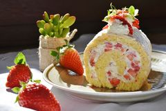 Dessert, Food, Strawberry, Strawberries Stock Image