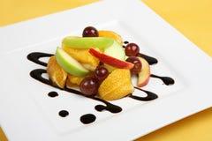 Dessert frais de salade de fruits Photographie stock