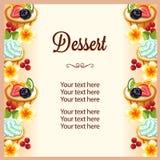 Dessert frame tropical theme Stock Photo