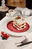 Dessert français appétissant de millefeuille Images libres de droits