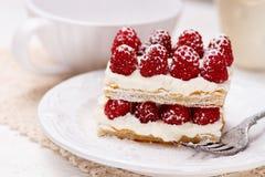 Dessert français appétissant de millefeuilles image stock